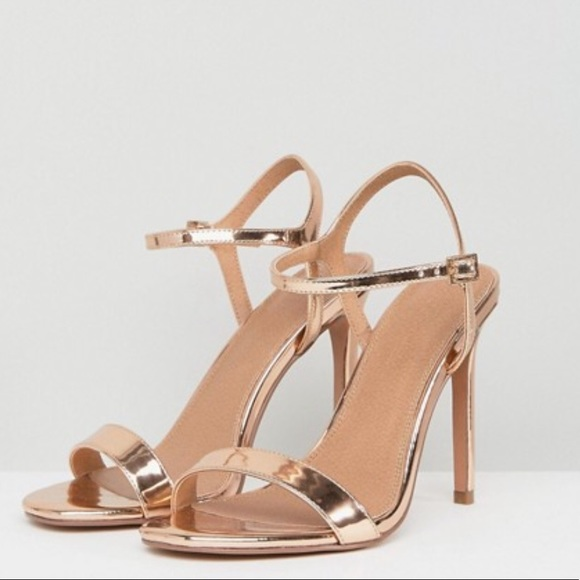 ASOS Shoes   Asos Rose Gold Wide Fit
